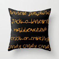 Halloween II Throw Pillow by oldking