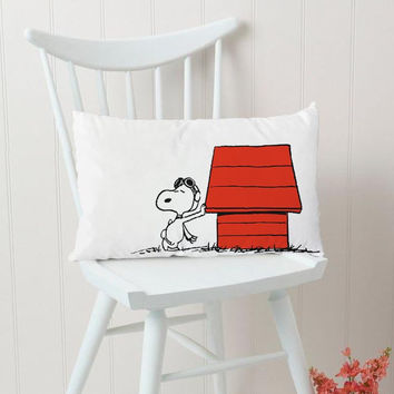 Snoopy Dog House Rectangular Pillow Cover, Pillow Case, Cushions Pillow Cover, Home Decor Pillow, Bed Pillow