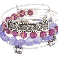 Alex and Ani Grape Sideshow Set of 5