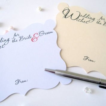 Wishes cards for bride and groom, advice for bride and groom, wedding comment cards, wedding wishes cards - 25 cards