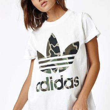 adidas Camouflage Big Trefoil T-Shirt at PacSun.com