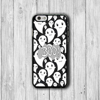 BOO Baby Ghost Cartoon Halloween iPhone 6 Cover, Little Ghost iPhone 6 Plus, iPhone 5S, iPhone 4S Hard Case, Rubber Deco Accessories Gift