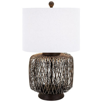 Biscayne Bamboo Rattan Table Lamp