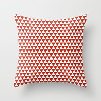 Triangles Throw Pillow by Jcks