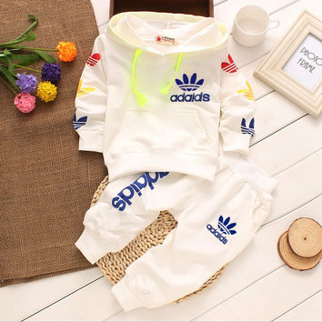 New 100% Cotton Spring Autumn Baby Clothing Set Bebes Suit Warm 2pcs hoodie Tops Pants Infant Newborn Girl Boy Clothes Sets 0-2Y