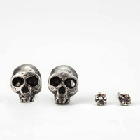 Urban Outfitters - Itty Bitty Skull Earring Set