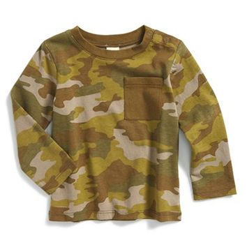 Infant Boy's Tucker + Tate Camo Print Long Sleeve T-Shirt,