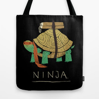 ninja - orange Tote Bag by Louis Roskosch