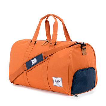 Herschel Supply Novel Duffel Bag - Carrot & Navy