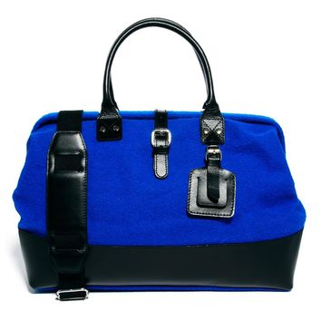 ASOS Felt Doctors Bag With Leather Trim