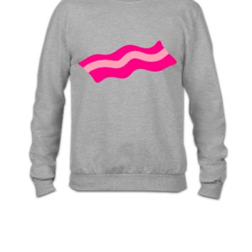 BACON rasher i love food pig - Crewneck Sweatshirt