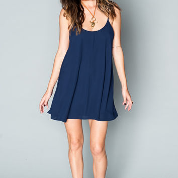 Show Me Your mumu Bella Dress ~ Rich Navy Crisp