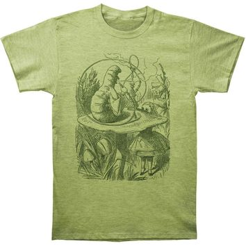 Alice In Wonderland Men's  Hookah Caterpillar Slim Fit T-shirt Heather