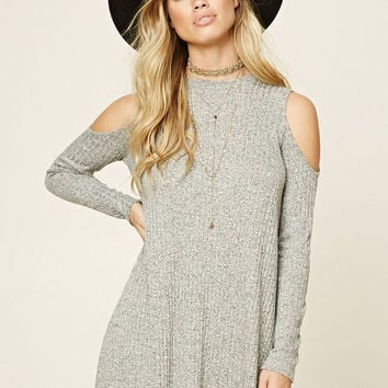 High-quality Womens Strapless Long Sleeve Knit Dress Sweater + Free Black Boho Choker Gift-68