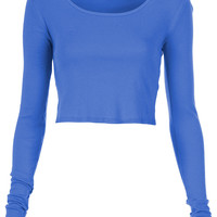 Long Sleeve Crop Tee - Bralets & Cropped Tops - Jersey Tops - Clothing - Topshop USA