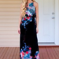 Love Is In Bloom Maxi Dress - Black - NEW ARRIVALS