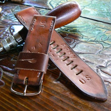 Pilot strap, watch strap,military strap, leather watch strap, 22mm watch strap, hand made leather strap, watch band