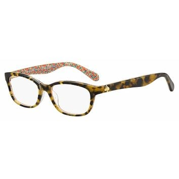 Kate Spade - Brylie 50mm Havana Pattern Green Eyeglasses / Demo Lenses