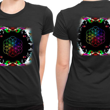 Coldplay A Head Full Of Dreams Cover Album Invert 2 Sided Womens T Shirt