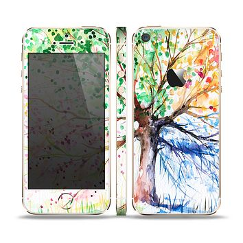 The WaterColor Vivid Tree Skin Set for the Apple iPhone 5s