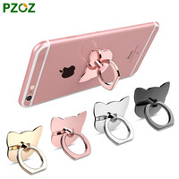 PZOZ 360 Degree Finger Ring Mobile Phone Smartphone Stand Holder For iPhone iPad Xiaomi all Smart Phone Luxury Couple Models