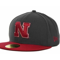Nebraska Cornhuskers NCAA 2 Tone Graphite and Team Color 59FIFTY