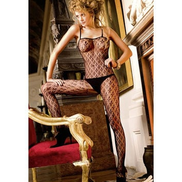 Cute On Sale Hot Deal Sexy Lingerie Black Transparent Spaghetti Strap Hollow Out Socks Exotic Lingerie [6596900675]