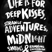 Life is for deep kisses... Art Print by WEAREYAWN