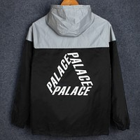 PALACE triangle stitching reflective jacket men and women couple sunscreen clothing