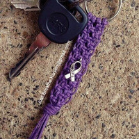 Cystic Fibrosis Awareness Keychain