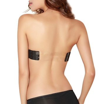 New Invisible Back Band Strapless Push Up Bra