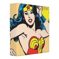 Wonder Woman Twist with Glowing Cuffs 3 Ring Binder from Zazzle.com