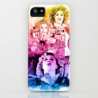 River Song Watercolor Mixed Media Digital Painting iPhone & iPod Case by Purshue