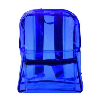 2 Color New fashion PVC Transparent Backpack Waterproof Backpack Summer Clear Jelly Bag Students unisex hot sale