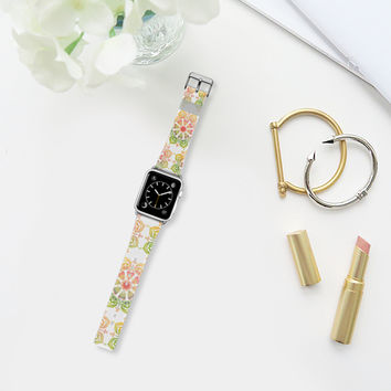 Spring Flower on white Apple Watch Band (38mm) by Heaven Seven | Casetify