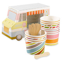 ice cream truck cups & spoons (set of 12)