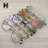 SHAUNA Trend Spring Summer Styles Women Square Sunglasses Fashion Men Metal Frame Tinted/Clear Lens Glasses