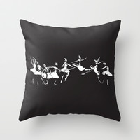 Dance Throw Pillow by MORPHEUS | Society6