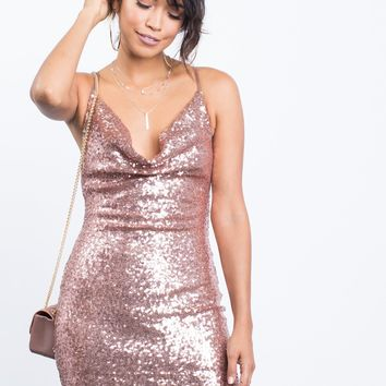 Pretty Sequin Party Dress