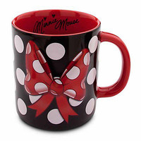 disney parks minnie mouse bow signature coffee mug new