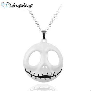 dongsheng Fashion Men Skull Head Skellington Necklace The Nightmare Before Christmas Pumpkin King Santa Jack Choker Necklace-30