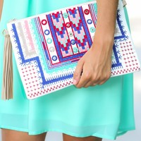 Best Thing Embroidered Clutch