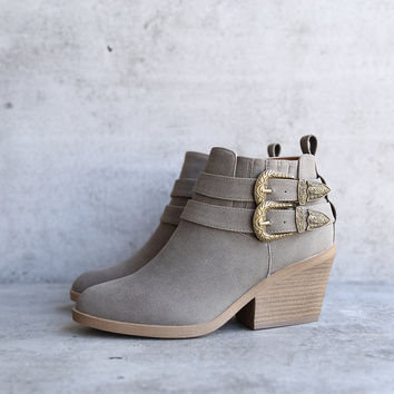 nubuck wedge bootie - more colors