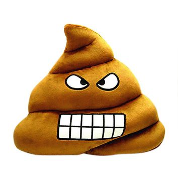 Cute Emoji Emoticon Cushion Poo Shape Pillow Doll Toy Throw Pillow