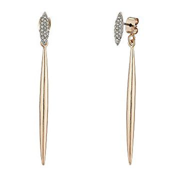 French Connection Pave Stud & Spike Front/Back Earrings