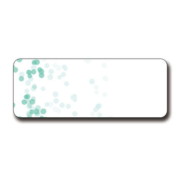 Turquoise Dots Printable Address Labels, 90 Total