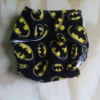 Batman Printed Cloth Diaper One Size + Insert