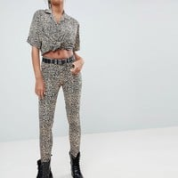 Motel Ultimate Jeans In Leopard at asos.com