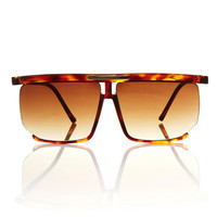 Tortoise Oversized Square Aviator Karl Sunglasses / Free Ship