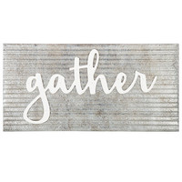 Gather Corrugated & Galvanized Metal Wall Decor | Hobby Lobby | 1541606